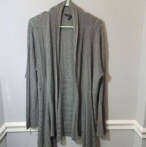 Gray Eileen Fisher Long Sleeve Plus Size Cardigan